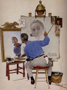 Norman Rockwell Triple Autoportrait, Triple Self-portrait